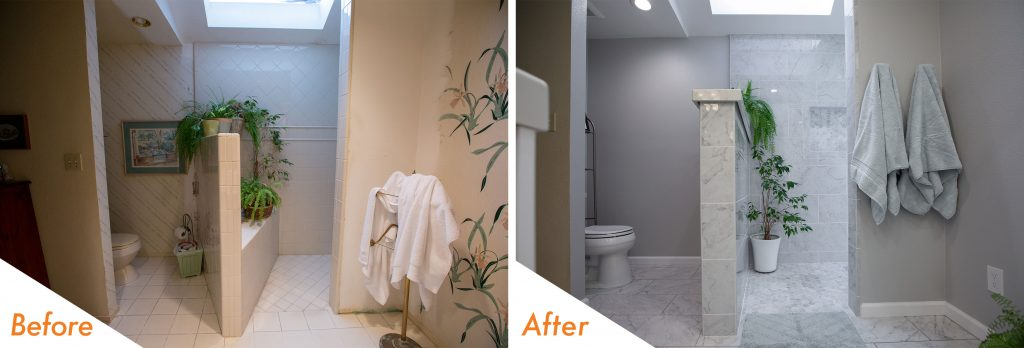 Before and After Toilet and Shower.