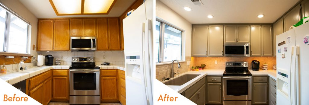 KitchenCRATE Wyndmoor Court Modesto, CA before and after pictures.