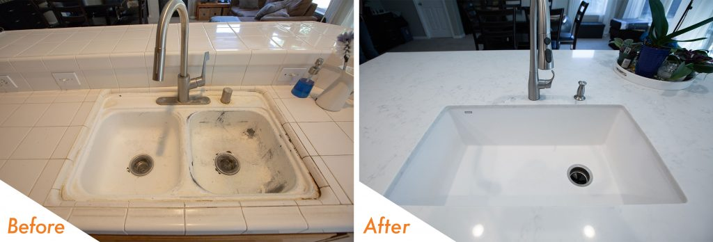Big modern kitchen sink.