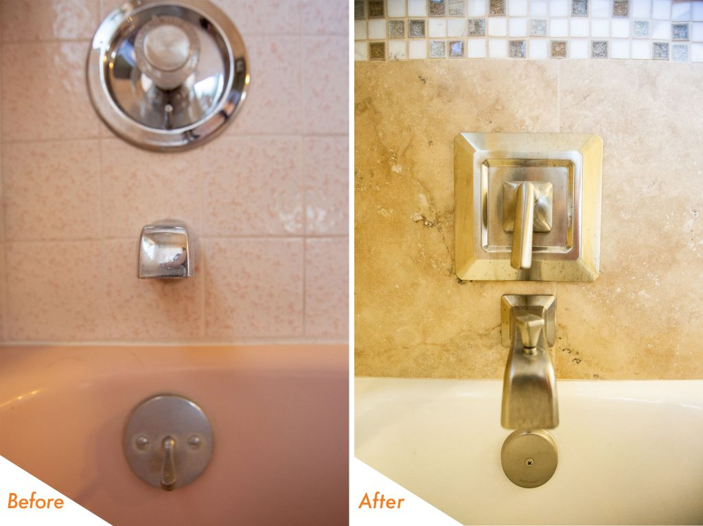 shower fixtures.