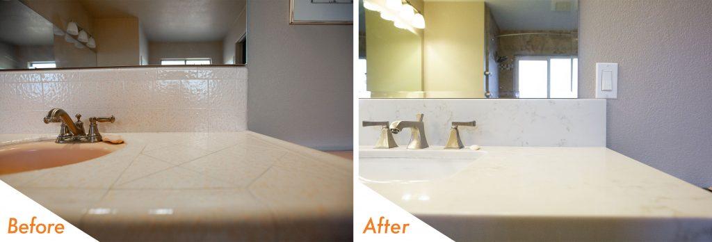 custom bathroom vanity.