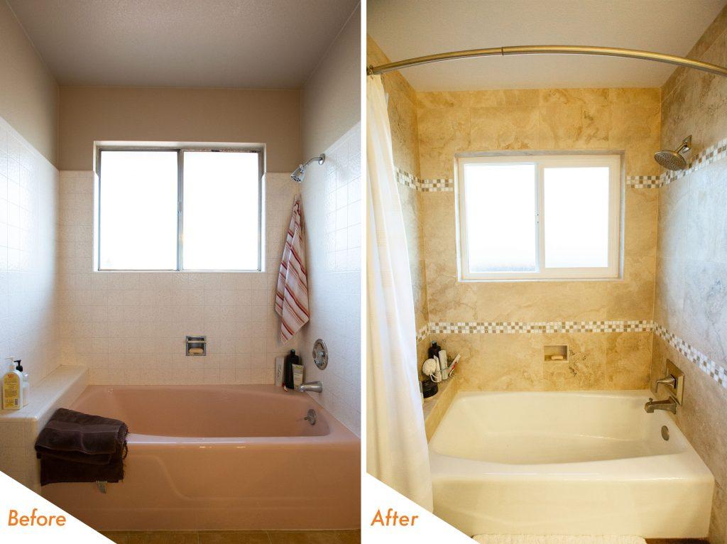 bath tub and shower renovation.