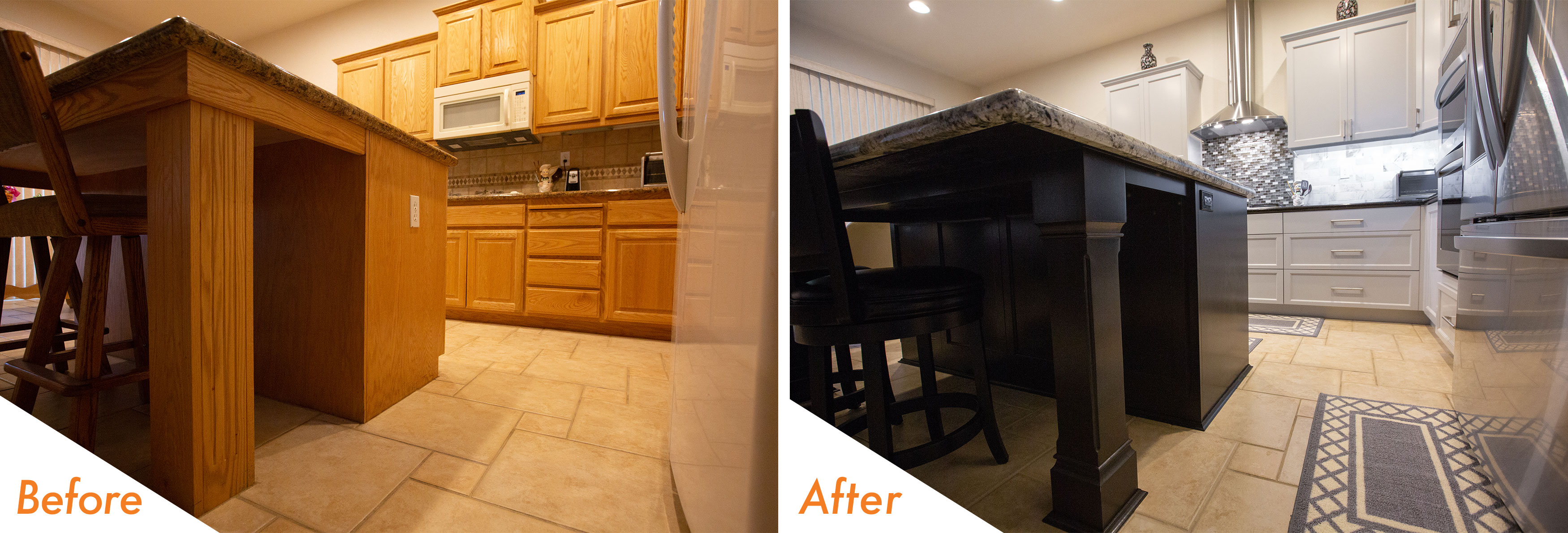 Before & After Custom Kitchen