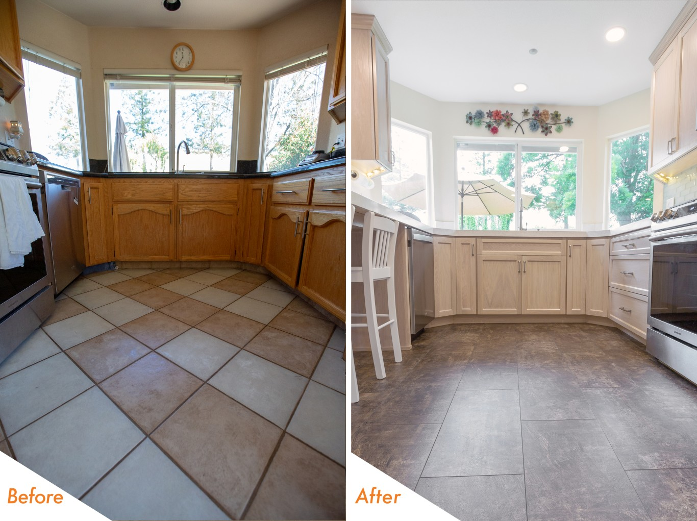 kcc Daisyfield Drive before and after renovation.